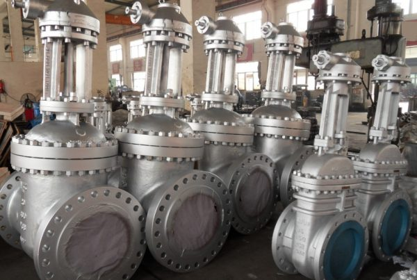 6 LUTON GATE VALVES GEAR OPERATED